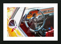 Lancia Fulvia Through The Window Picture Frame print