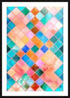 Geometric XXXX Picture Frame print