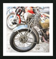 Moto Guzzi and BMW Front Wheels Picture Frame print