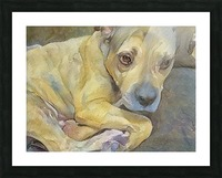 Watercolor dog painting Picture Frame print