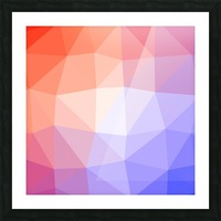 Abstract art patterns low poly polygon 3D backgrounds, textures, and vectors (10) Picture Frame print