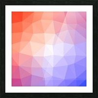 Abstract art patterns low poly polygon 3D backgrounds, textures, and vectors (5) Picture Frame print