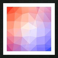 Abstract art patterns low poly polygon 3D backgrounds, textures, and vectors (6) Picture Frame print
