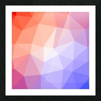 Abstract art patterns low poly polygon 3D backgrounds, textures, and vectors (9) Picture Frame print