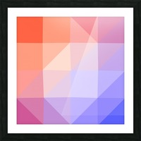 Abstract art patterns low poly polygon 3D backgrounds, textures, and vectors (13) Picture Frame print