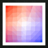 Abstract art patterns low poly polygon 3D backgrounds, textures, and vectors Picture Frame print