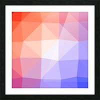 Abstract art patterns low poly polygon 3D backgrounds, textures, and vectors (2) Picture Frame print