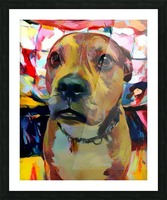 Dog Painting (5) Picture Frame print