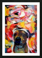 Dog Painting (10) Picture Frame print