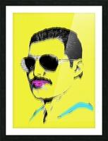 Yellow Freddie Mercury Picture Frame print