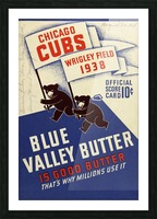 1938 Chicago Cubs Program Cover Picture Frame print