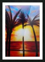 Waikiki Sunset Picture Frame print