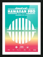 2017 HAWAIIAN PRO Surf Competition Print Picture Frame print
