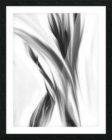 Hazy Stem Left  Picture Frame print