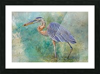 Fishing With Big Blue Picture Frame print