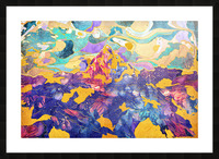 Dreamy Mountain - Illustration II Picture Frame print