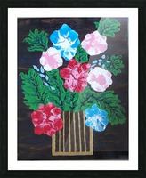 Flowers in box Picture Frame print