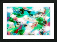 Waterfall - multicolor abstract swirl wall art Picture Frame print