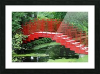 Dow Gardens Red Footbridge 062618 Picture Frame print