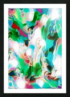 Waterfall vertical - multicolor abstract swirls Picture Frame print