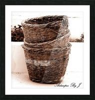 Grape Baskets Picture Frame print