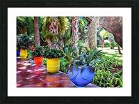 Colorful Plant Pots Marrakech 9 Picture Frame print