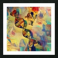 DNA Strand Picture Frame print