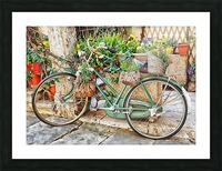 Decorative Bicycle In Cortona Picture Frame print