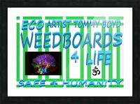 ECO WEEDBOARDS 4 LIFE   ECO ARTIST TOMMY BOYD Picture Frame print