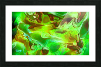 Emerald Field - green brown gold abstract swirls Picture Frame print