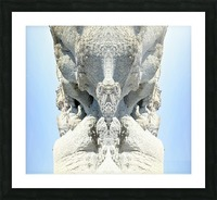 The White Monk  Picture Frame print