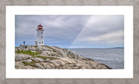Alone at Peggys Cove. Picture Frame print