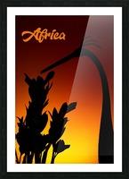 Africa sunrise Picture Frame print