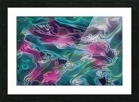 Feminine Waters - turquoise pink purple swirls Picture Frame print