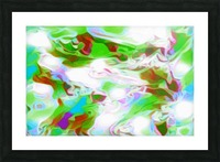 Green Glass Window - multicolor green abstract swirl wall art Picture Frame print