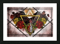Wings of Gold  Picture Frame print
