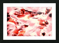 Super Charged - red orange pink abstract swirls wall art Picture Frame print