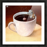 Coffee with milk Picture Frame print
