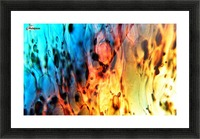 Fire Woman Picture Frame print