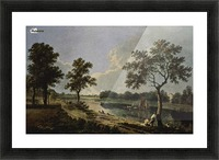 Men by the river Picture Frame print