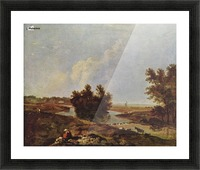 Bush in the river Picture Frame print