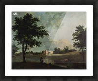 Castle by the river Picture Frame print