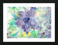 Abstract flower Picture Frame print