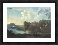 Two men in a boat Picture Frame print