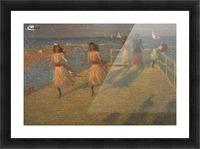 Girls Running Picture Frame print