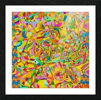 ABSTRACT SHAPES 08 Picture Frame print