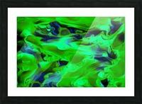 Gemphire - emerald green dark blue abstract swirls wall art Picture Frame print