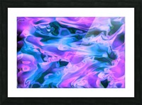 Purple Ice - purple blue abstract swirl wall art Picture Frame print