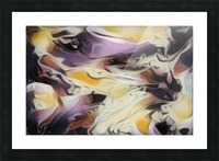 Cosmic - multicolored abstract swirl wall art Picture Frame print