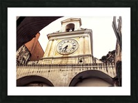 The Church  - Tower Clock Picture Frame print